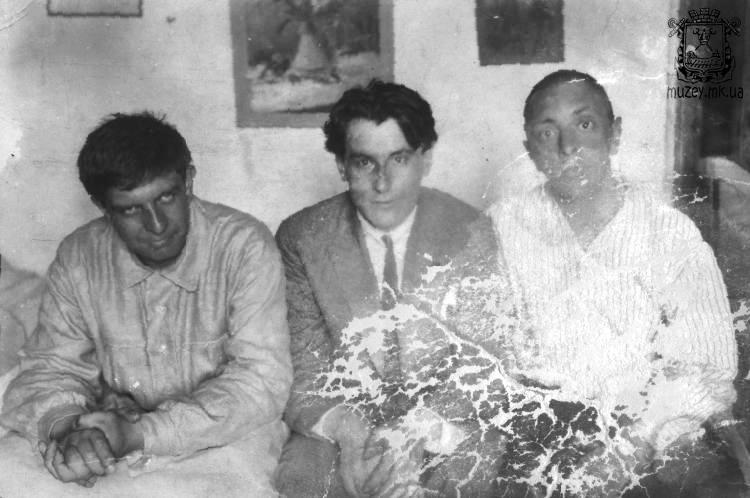 Э.Г. Багрицкий, В.П. Катаев, Я.М. Бельский, 1920-е гг.