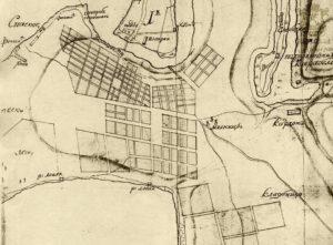Карта города, конец восемнадцатого века