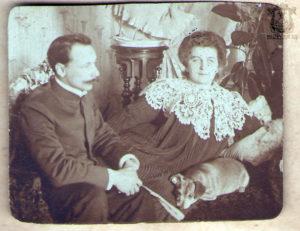 Рюмин с супругой. Публикуется впервые